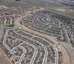 Figure 1. An example of a suburb in Rio Rancho, NM