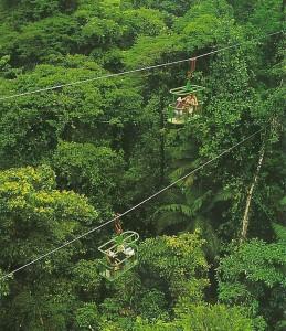 Aerial tram system.