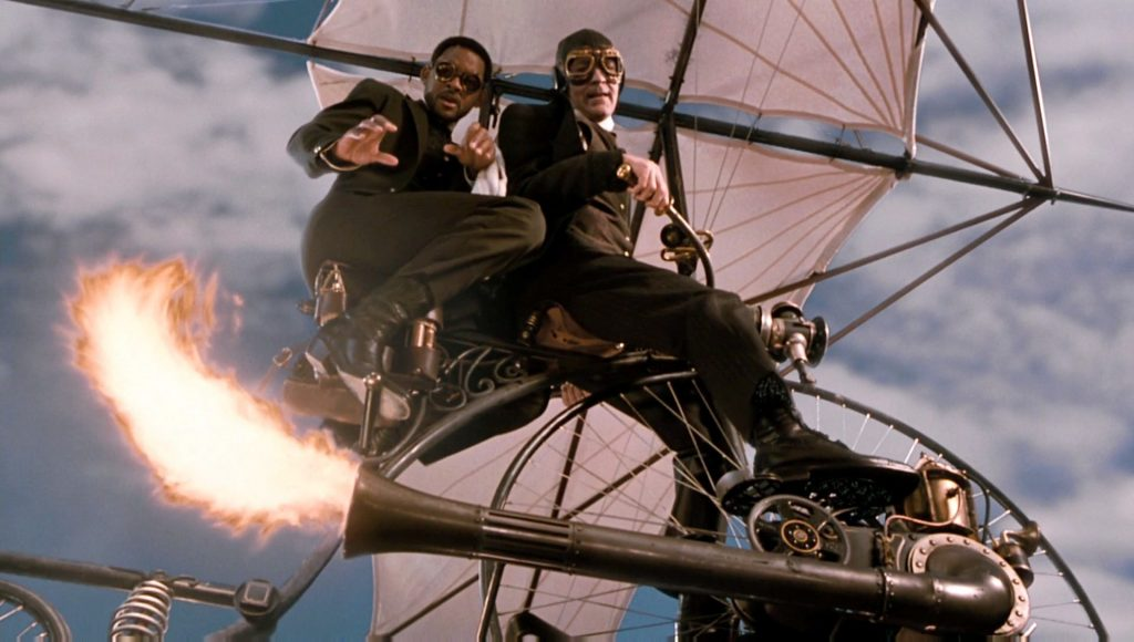 Main characters flying the Air Gordon.