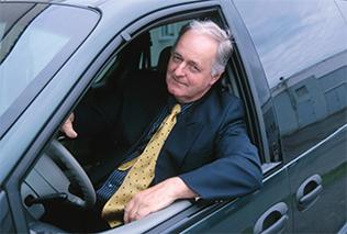 A senior driver