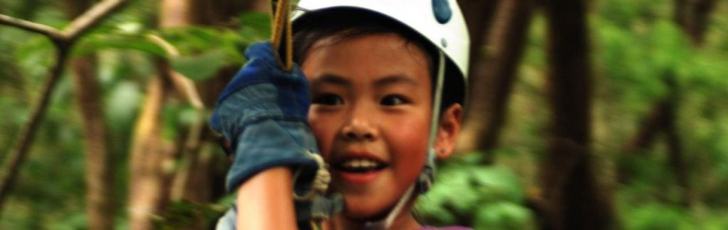 Boy on zipline