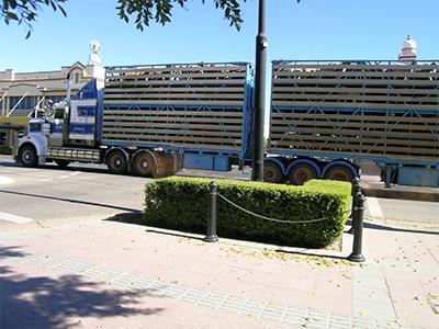 Truck carrying livestock