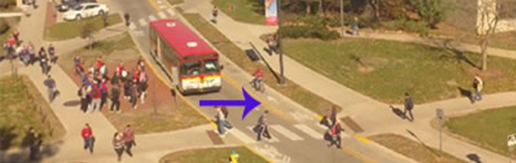 Ames campus traffic