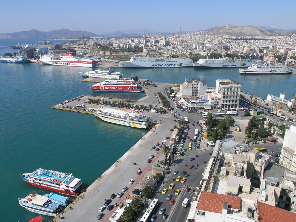 Port of Piraeus in Greece