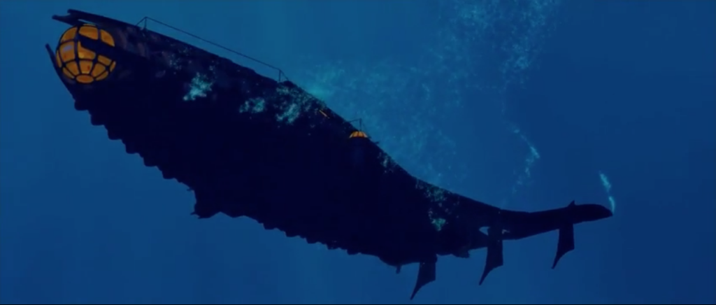 The crew beginning their submarine voyage to Atlantis