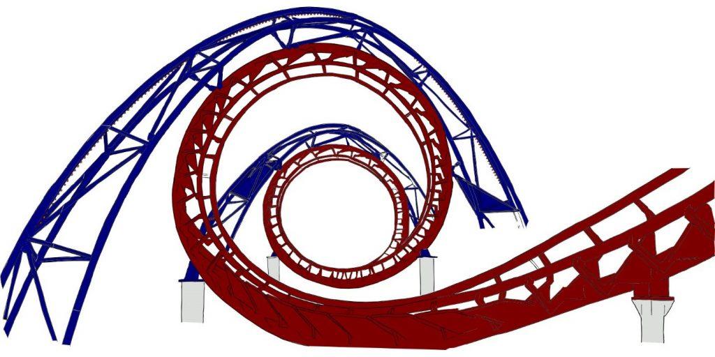 Roller coaster drafting design