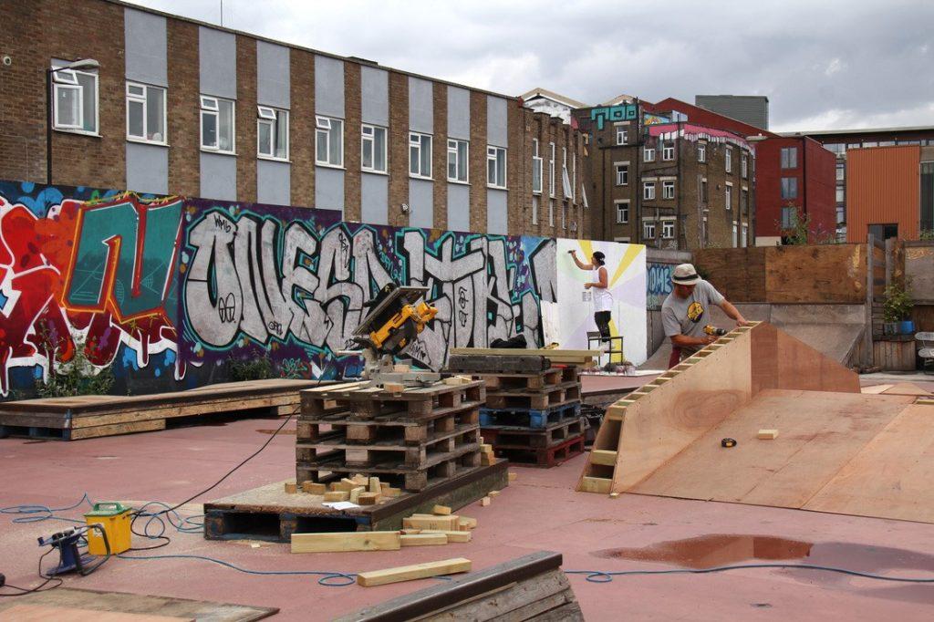 Developing the skatepark in London