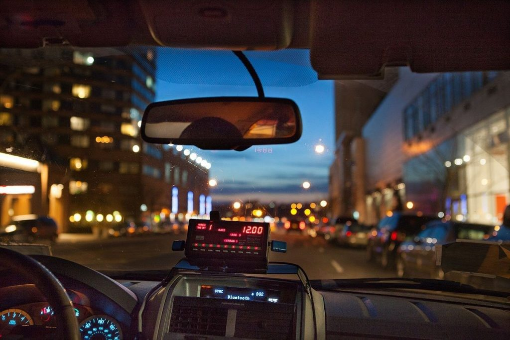 View from a taxi cab