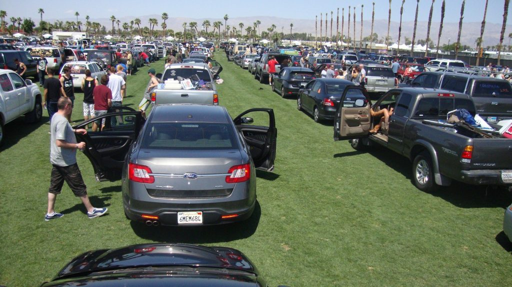 Crowded parking at special event