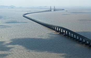 The Donghai Bridge is one of the longest bridges in the world