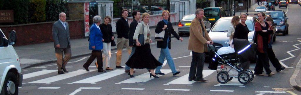 Busy crosswalk