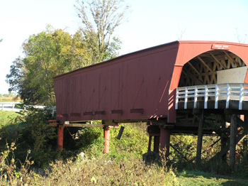 The Roseman Bridge (built 1883), located in Madison County, Iowa