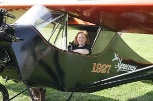 Heather Taylor in a Monocoupe