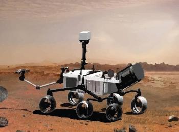 NASA's robot in the Mojave Desert