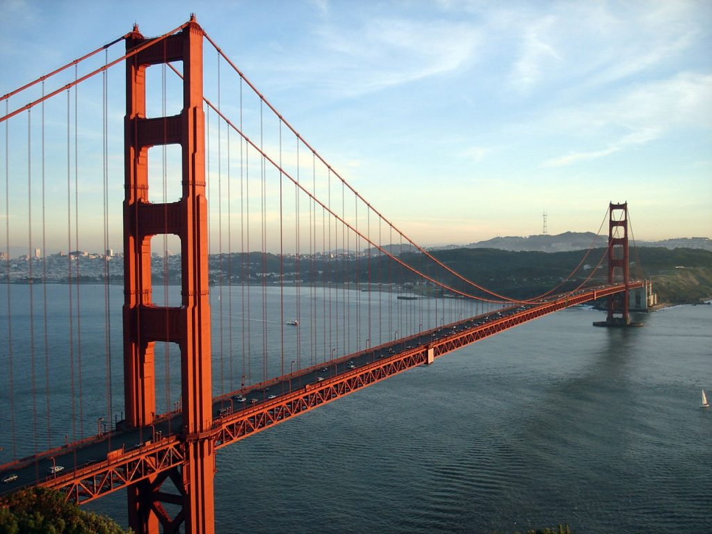 The Golden Gate Bridge, circa 2007