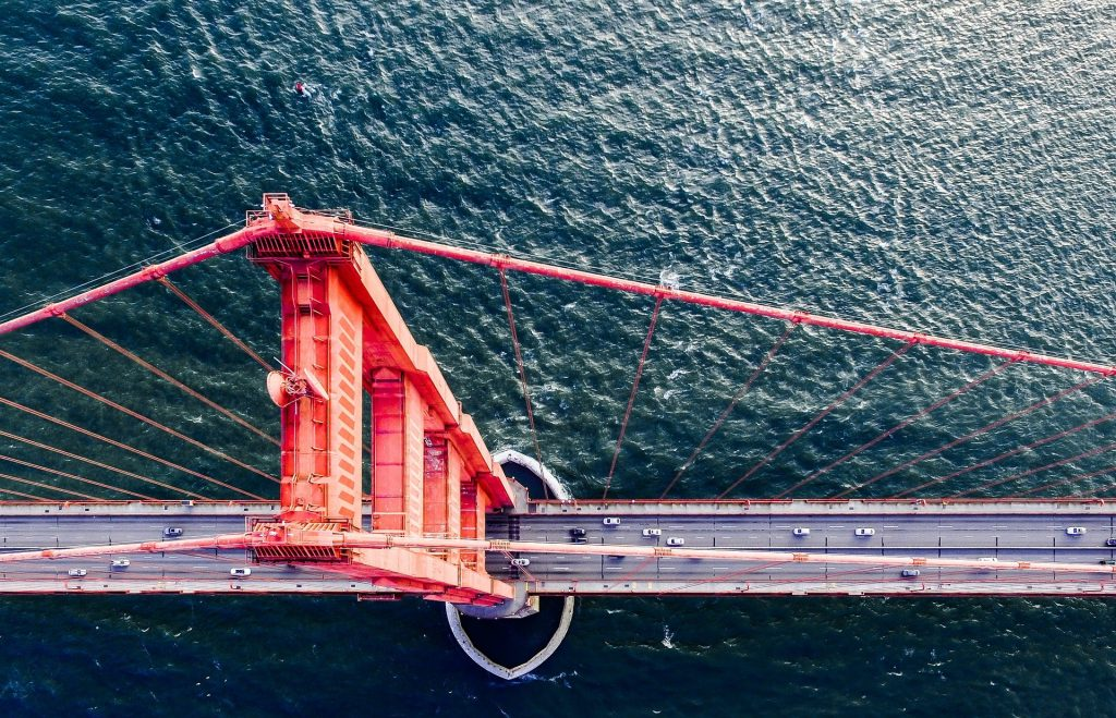 Golden Gate Bridge from above.
