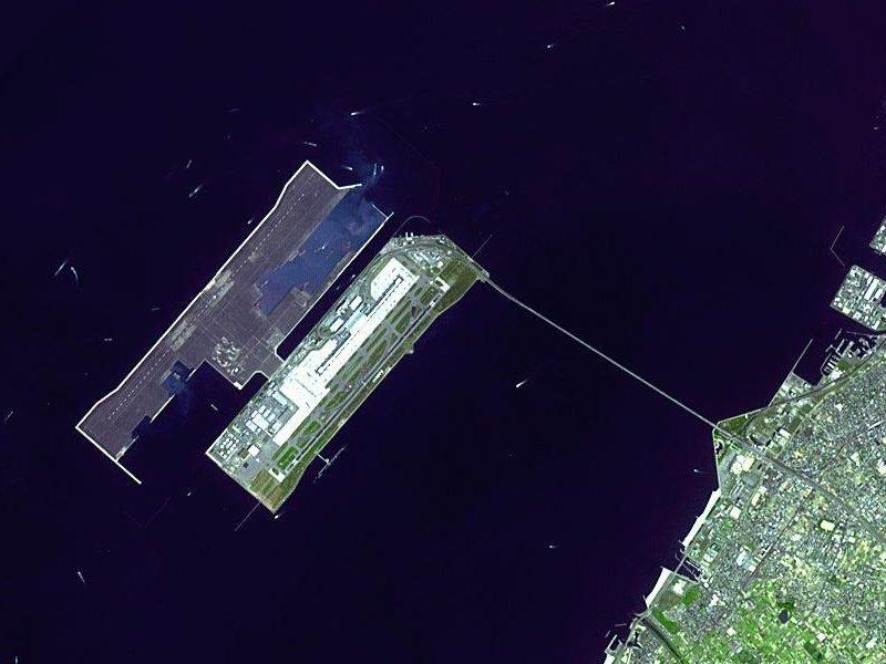 Aerial view of KIX in Osaka Bay