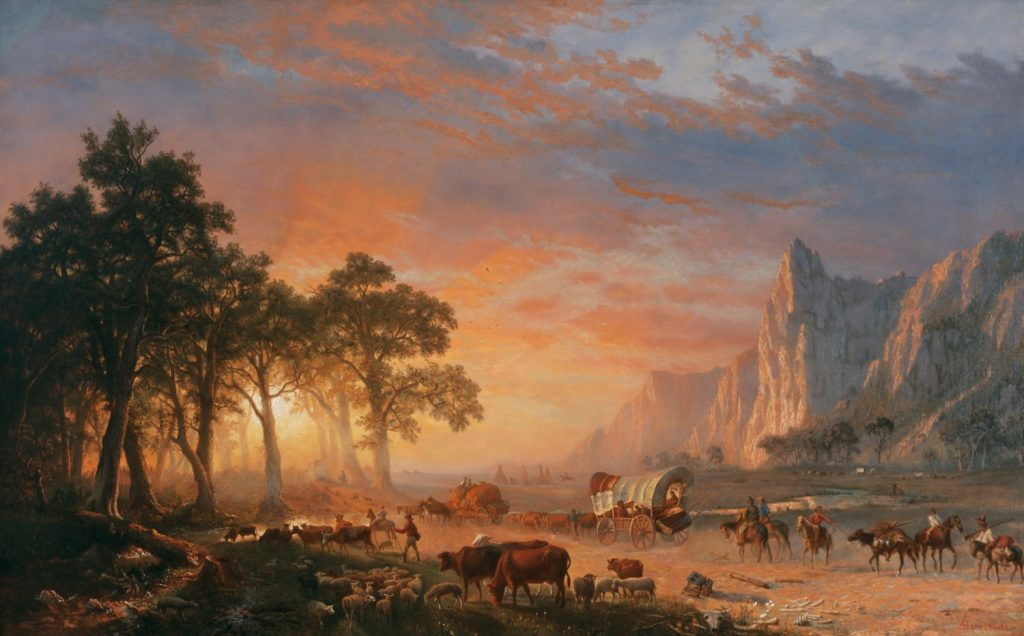 Emigrants crossing the plains, oil on canvas, 1869