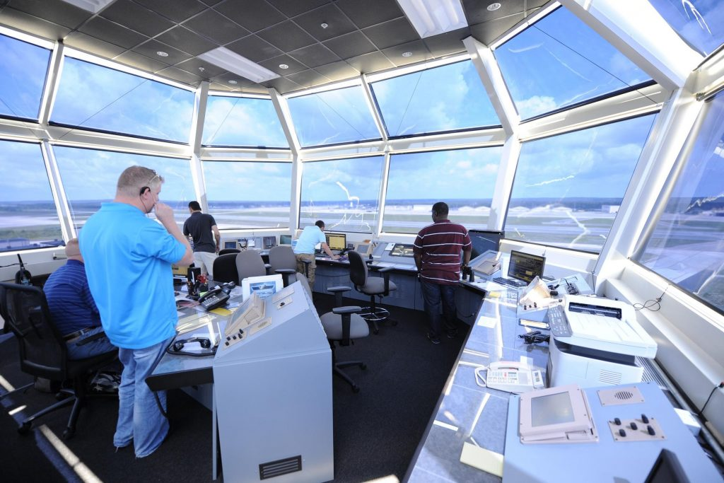 Inside a control tower