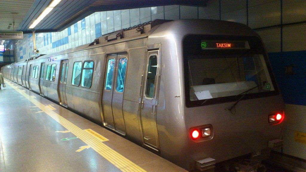 Istanbul's M2 Metro train line.