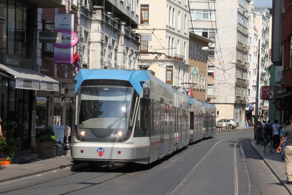 A modernized Istanbul tram