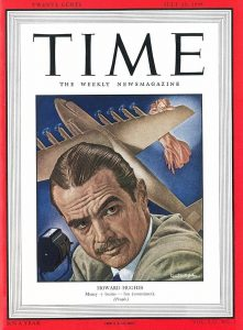 Howard Hughes on the cover of TIME magazine