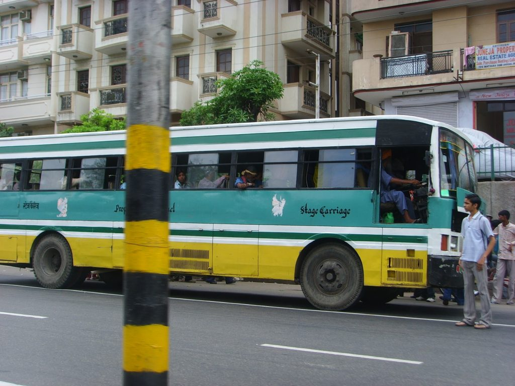 Blueline bus in Delhi circa 2007.