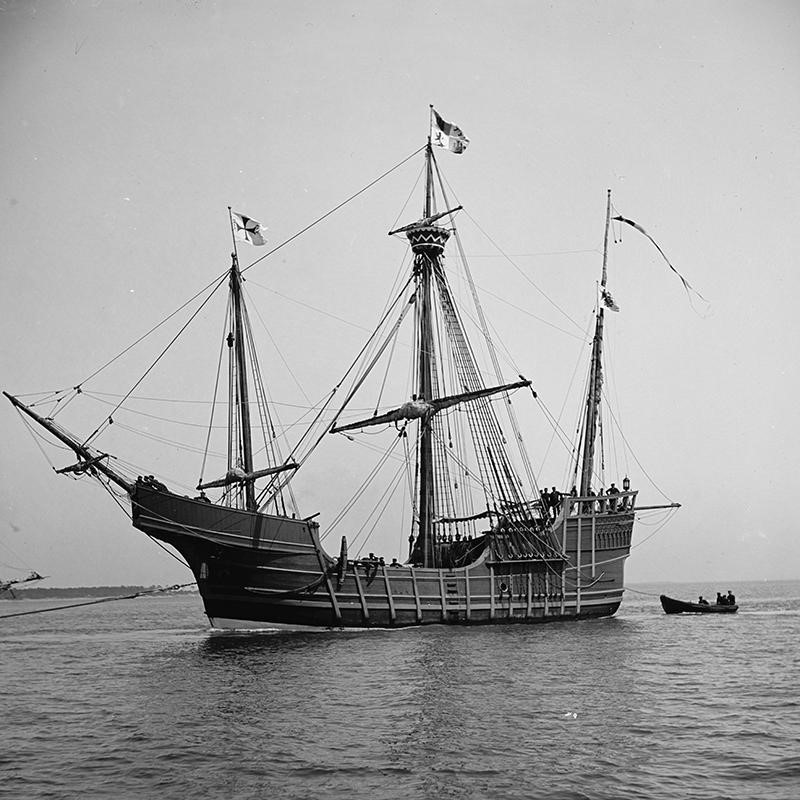 Replica of the Spanish carrack Santa María in 1904.
