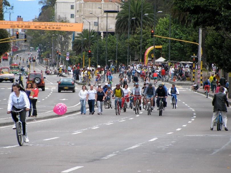 Ciclovía in Bogotá, Colombia