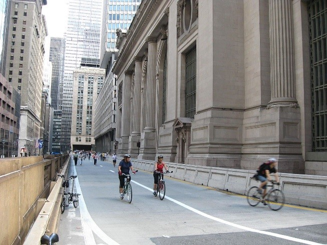 Western Viaduct in NYC closed for Summer Streets program