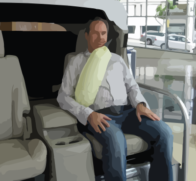 Air bags for seat belts