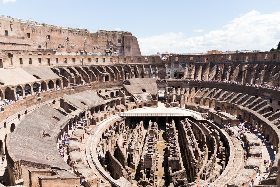 A look inside the Colosseum