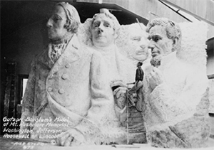Model of Mount Rushmore by Gutzon Borglum
