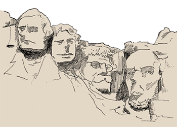 Mount Rushmore without a designer