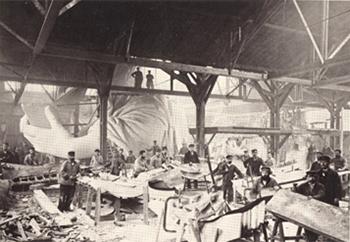 Statue of Liberty's original construction in Paris, France.