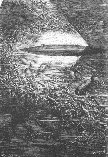 The Nautilus as imagined by Jules Verne