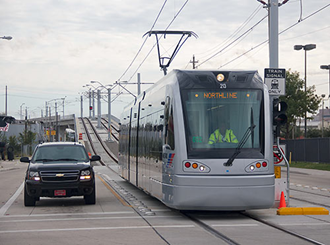 Light rail in Houston, Texas