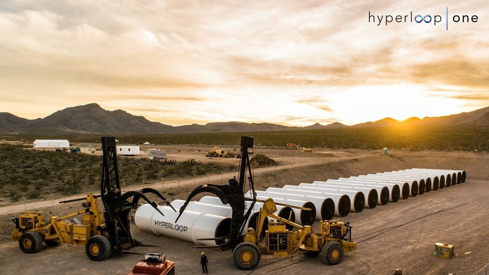 Hyperloop tubes await future test runs
