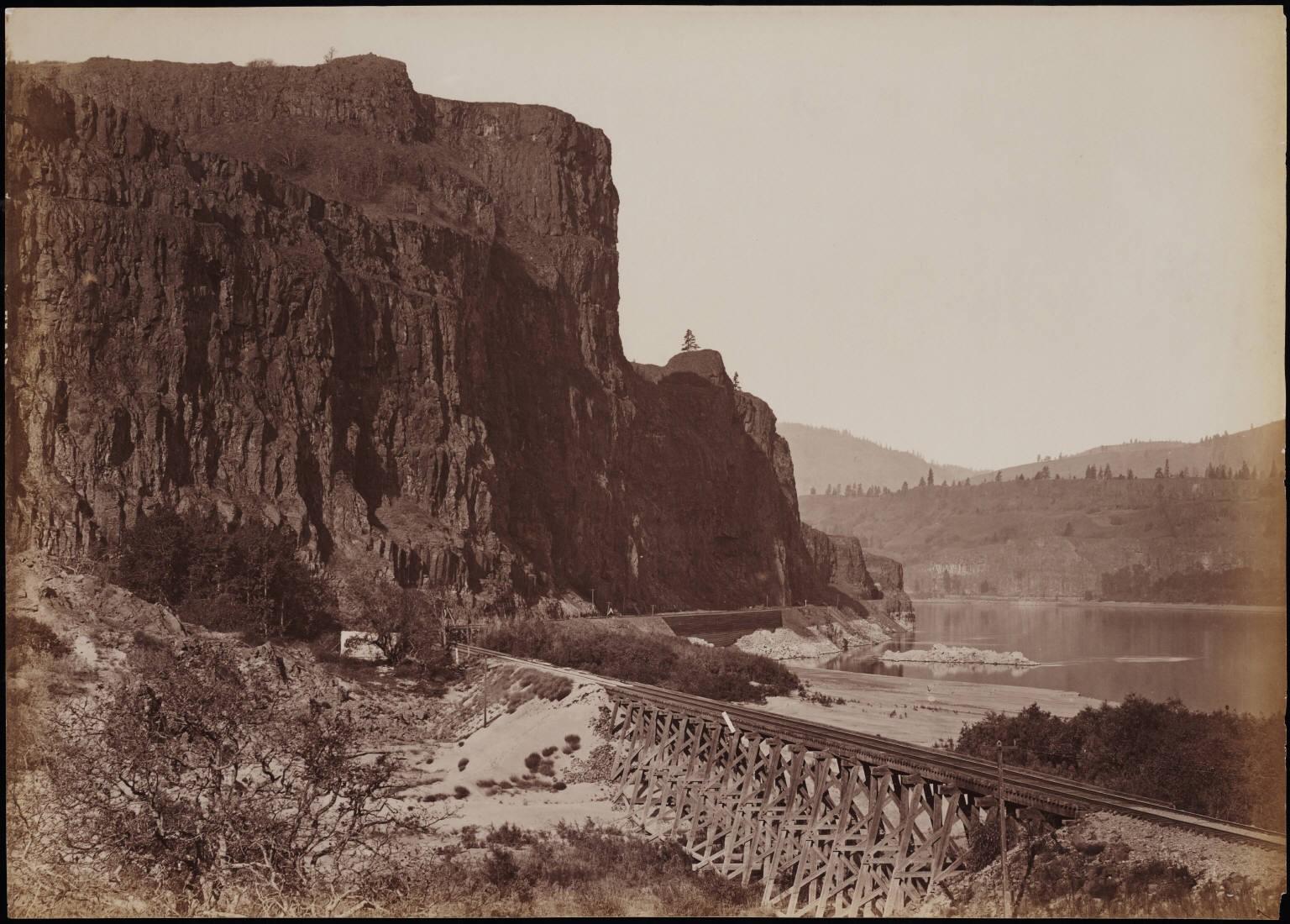 An American railway circa 1884-1885