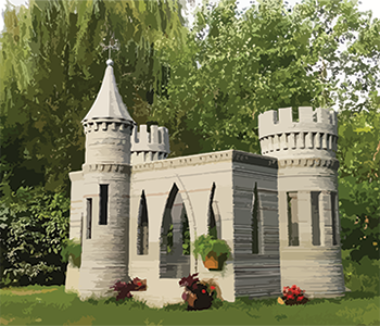 3D printed concrete castle