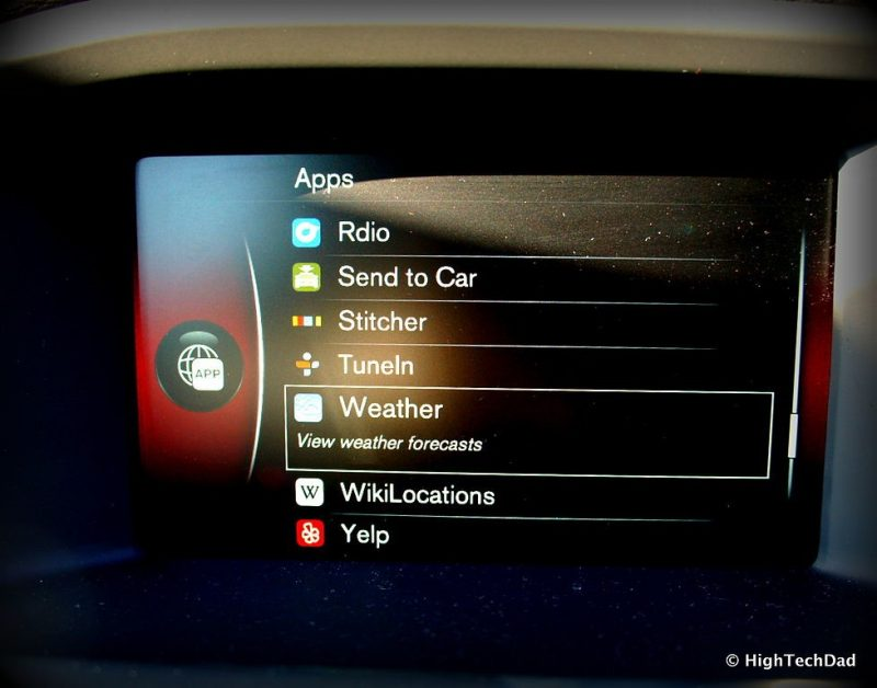 Internet apps in the car