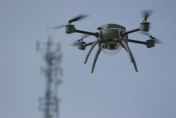 An example of a drone in flight