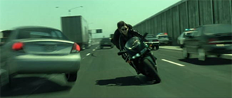 Matrix Reloaded car chase