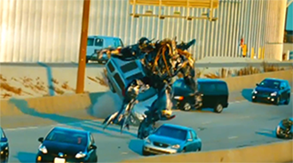 Robot scene from Transformers: Dark of the Moon