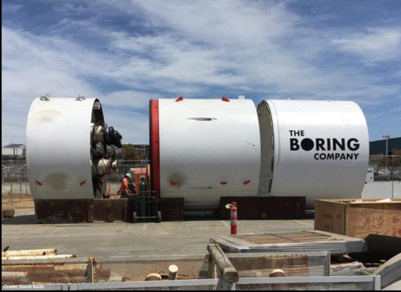 The Boring Company's TBM.