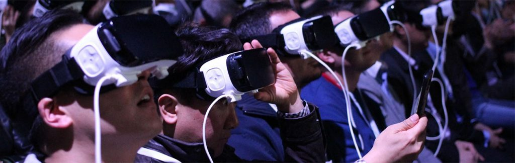 Crowd with VR goggles
