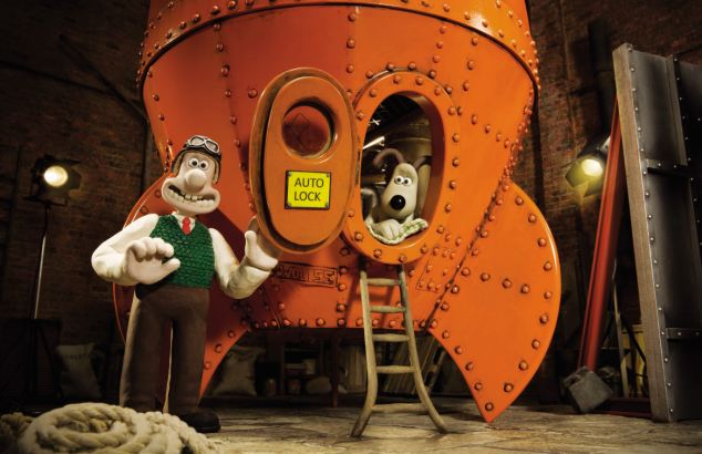 Wallace and Gromit blast off? Screenshot from A Grand Day Out
