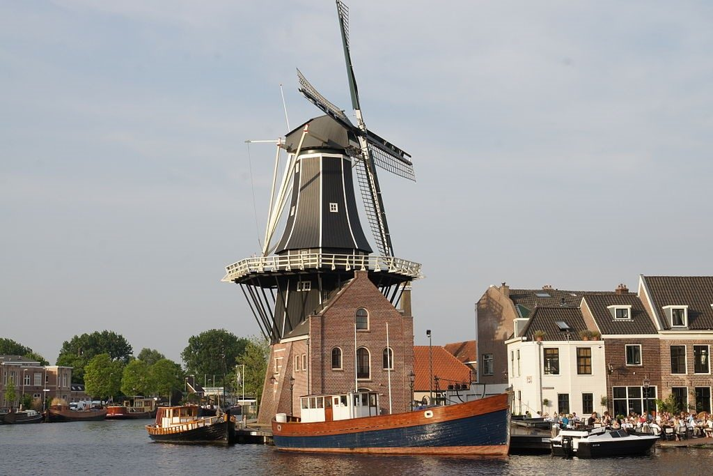 Windmill in Haarlem, the Netherlands.