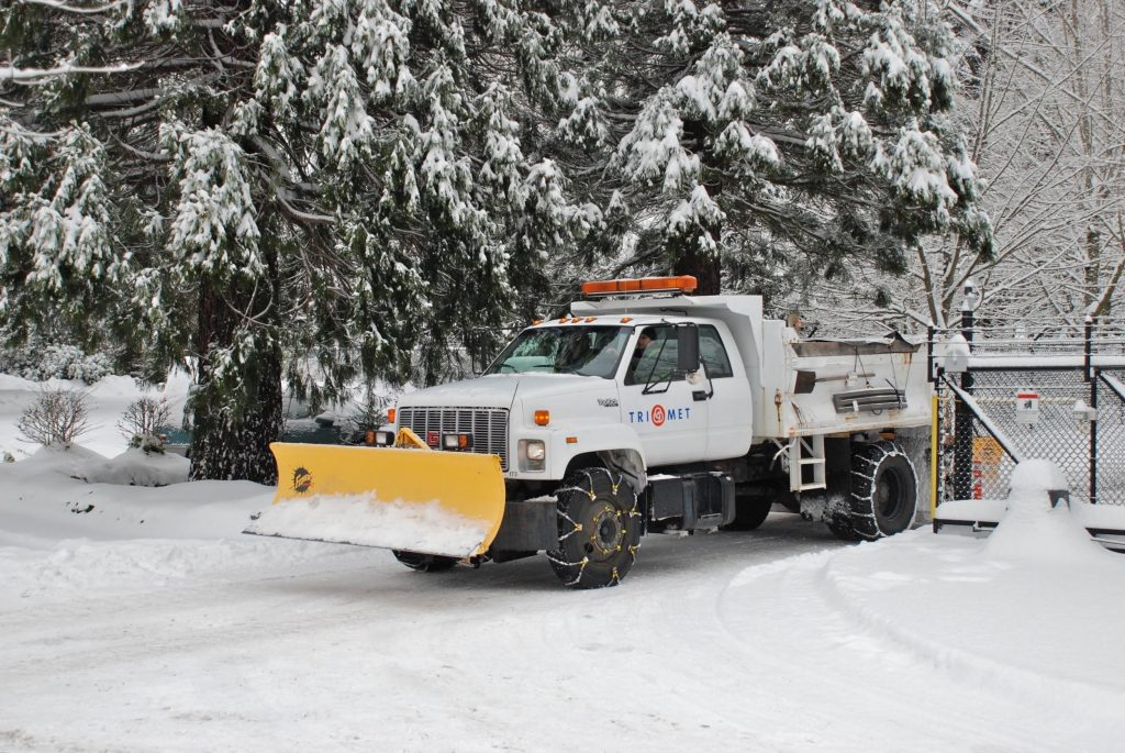 Snowplow-equipped truck. Photo from Steve Morgan