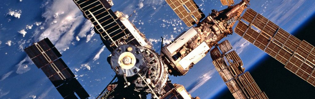 383927 14: FILE PHOTO: A 70mm view of Russia's Mir Space